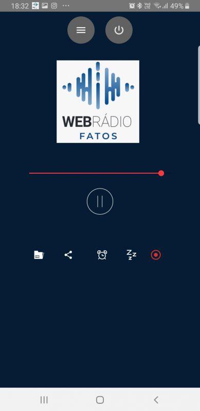 layout web radio fatos